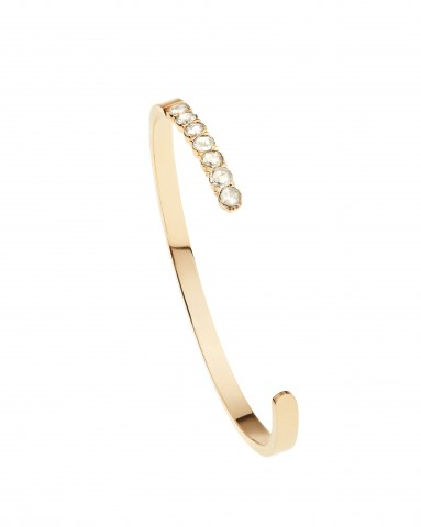 SC Pink Collection - 18K Pink Gold Cuff with Rose Cut Diamonds