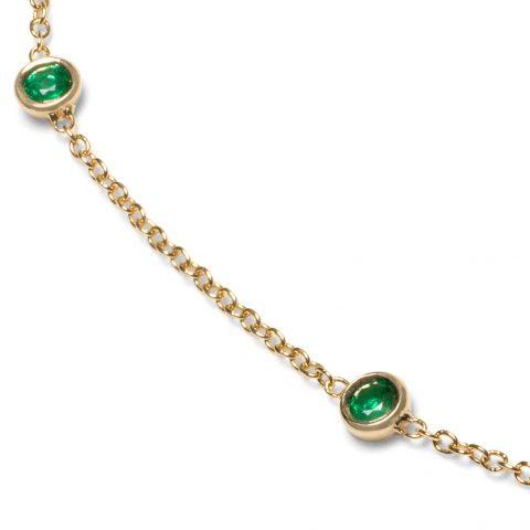 Emerald Love Necklace close up