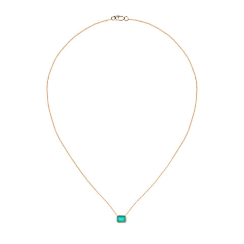 Gold Wrapped Emerald Necklace