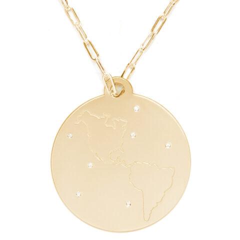 World Gold and Diamond Pendant